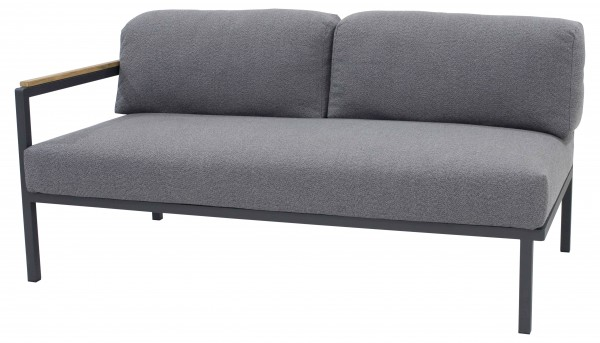 Zebra Hudson Lounge Sofa 2-Sitzer, Armlehne links
