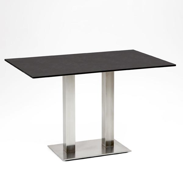 Niehoff Bistro Tisch rechteckig 120x81cm, HPL Granit-Design