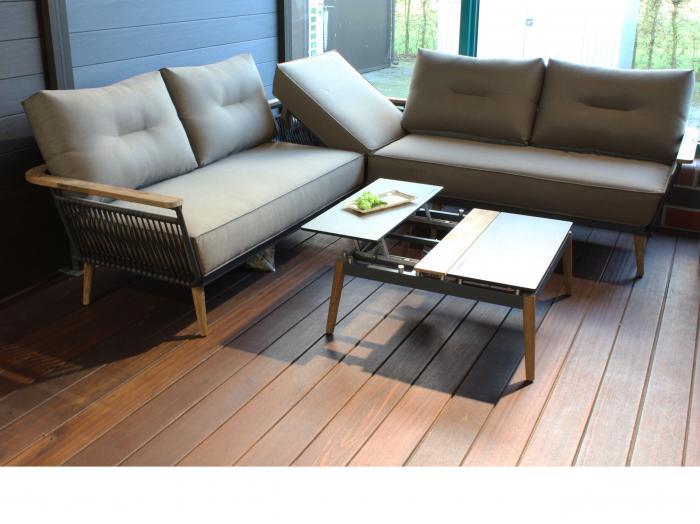 Gartenmöbel-Set Flix Lounge-1. Die Dekoration gehört nicht zum Lieferumfang.