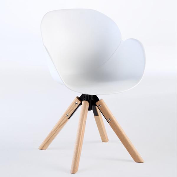Niehoff Sushi Stuhl weiß mit Stativfuß