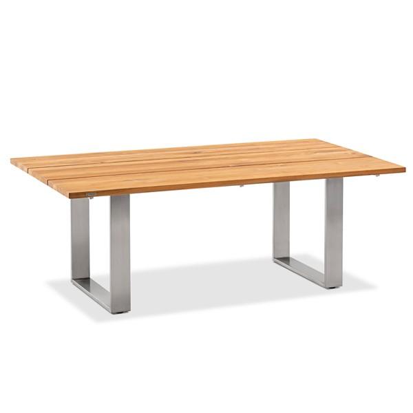 Niehoff Noah Gartentisch mit Profilkufe und Tischplatte Teak geölt, abweichende Ausführung 200cm
