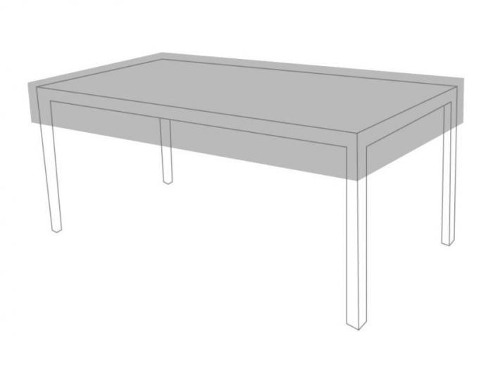 Der Tisch gehört nicht zum Lieferumfang.